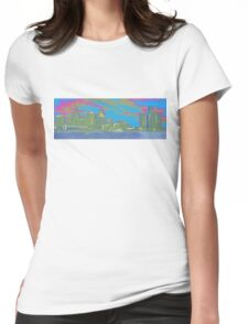 Detroit skyline Womens Fitted T-Shirt