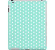 Polka dots white on blue iPad Case/Skin