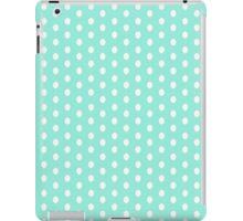Polka dots white on blue iPad Case/Skin