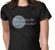 Rii Morsel Quote from Smiler's Fair Womens Fitted T-Shirt