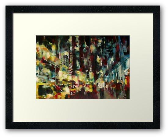 Yellow Cab, New york skyline by Samuel Durkin