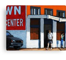 On the Street - colorful city scene Canvas Print