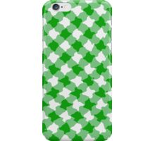 Green diagonal gingham design iPhone Case/Skin