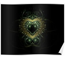 Crest of Gold and Green Poster