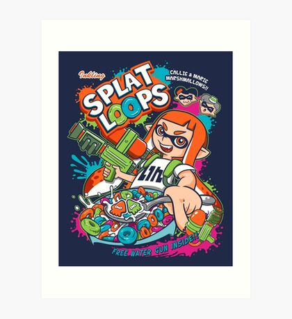 Splat Loops Art Print