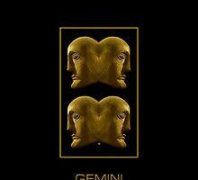 The Gemini Zodiac Emblem by Vy Solomatenko