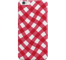 Wibbly wobbly red gingham iPhone Case/Skin