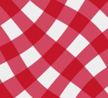 Wibbly wobbly red gingham Sticker