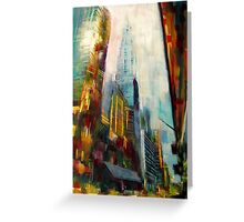 Chrysler building,New york Skyline Greeting Card