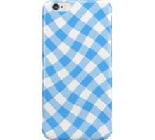 Wibbly wobbly blue gingham iPhone Case/Skin