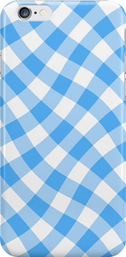 Wibbly wobbly blue gingham by stuwdamdorp