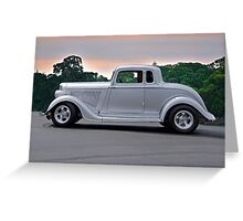1934 Plymouth 'Casper' Coupe  Greeting Card