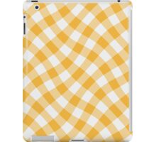 Wibbly wobbly yellow gingham iPad Case/Skin