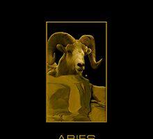 The Aries Zodiac Emblem by Vy Solomatenko