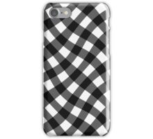 Wibbly wobbly black gingham iPhone Case/Skin