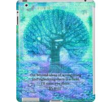 Rumi Friendship Peace Quote iPad Case/Skin