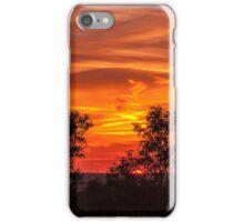 sunset orange iPhone Case/Skin