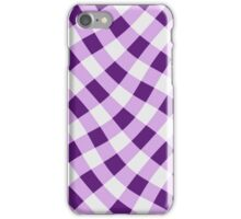 Wibbly wobbly lilac gingham iPhone Case/Skin