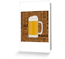 Types of Beer  Greeting Card