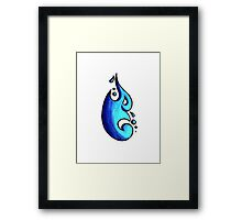 Tina / طينة (cyan blue) Framed Print