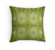 Designer textiles-Pseudo Pompous Baroque : Mediterranean Olive Filigree Tribute Throw Pillow