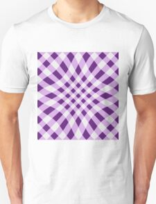 Latticed Lilac gingham T-Shirt