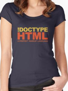 HTML Women's Fitted Scoop T-Shirt