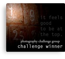 Photography Challenge Group Winner Banner Canvas Print