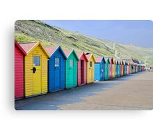 Beach huts at Whitby Canvas Print