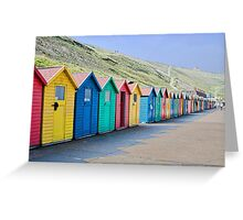 Beach huts at Whitby Greeting Card