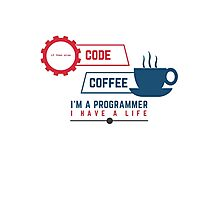 programmer : coffee and code Photographic Print