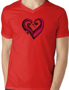 Heart / قلب (pink) Mens V-Neck T-Shirt
