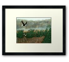 Prarie du sac eagle Framed Print