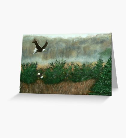 Prarie du sac eagle Greeting Card