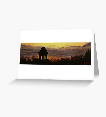 gazebo sunset Greeting Card