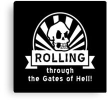 ROLLING through the Gates of Hell! (Murray - Monkey Island) Canvas Print
