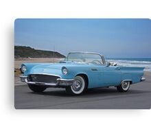 1957 Ford Thunderbird 'Blue Baby' Canvas Print