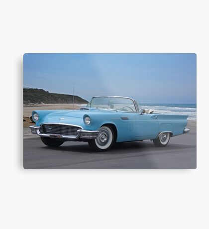 1957 Ford Thunderbird 'Blue Baby' Metal Print