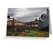 Due To Heavy Snows....Salem, Oregon Greeting Card