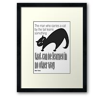 The Well-Read cat -1 Framed Print