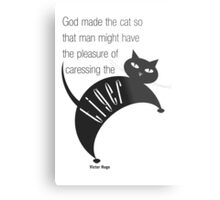The Well-Read cat - 2 Metal Print