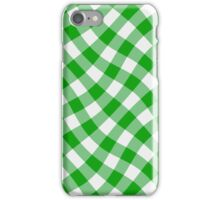 Wibbly wobbly green gingham iPhone Case/Skin