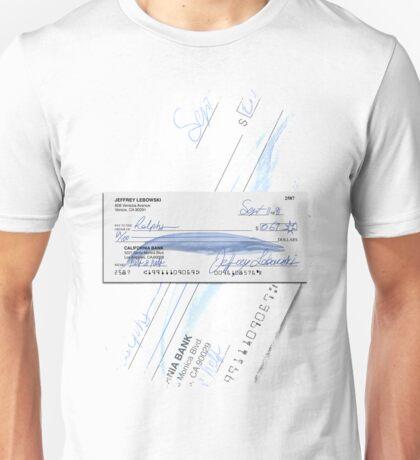 Lebowski's check Unisex T-Shirt