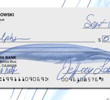 Lebowski's check Sticker
