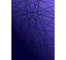 Purple Symmetry Photographic Print