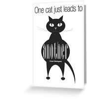 The Well-Read cat - 4 Greeting Card