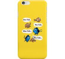 One Fish, Blue Fish iPhone Case/Skin