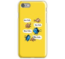 One Fish, Blue Fish iPhone Case/Skin