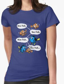 One Fish, Blue Fish Womens Fitted T-Shirt