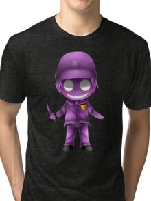 Chibi Purple guy Tri-blend T-Shirt